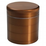 Aluminum Grinder - Bronze - 56mm - 5-part - Double Screen
