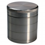 Aluminum Grinder - Grey - 50mm - 5-part - Double Screen