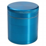 Aluminum Grinder - Turquoise - 50mm - 5-part - Double Screen