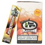 Blunt Wrap Double Platinum 2x - Peach Passion Cigar Wraps - Box of 25 Packs