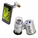 Black Leaf - LED Currency Detecting Pocket Microscope with iPhone Attachment - 60x